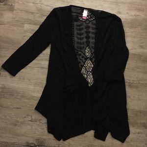 Jackets & Blazers - Black cover up jacket